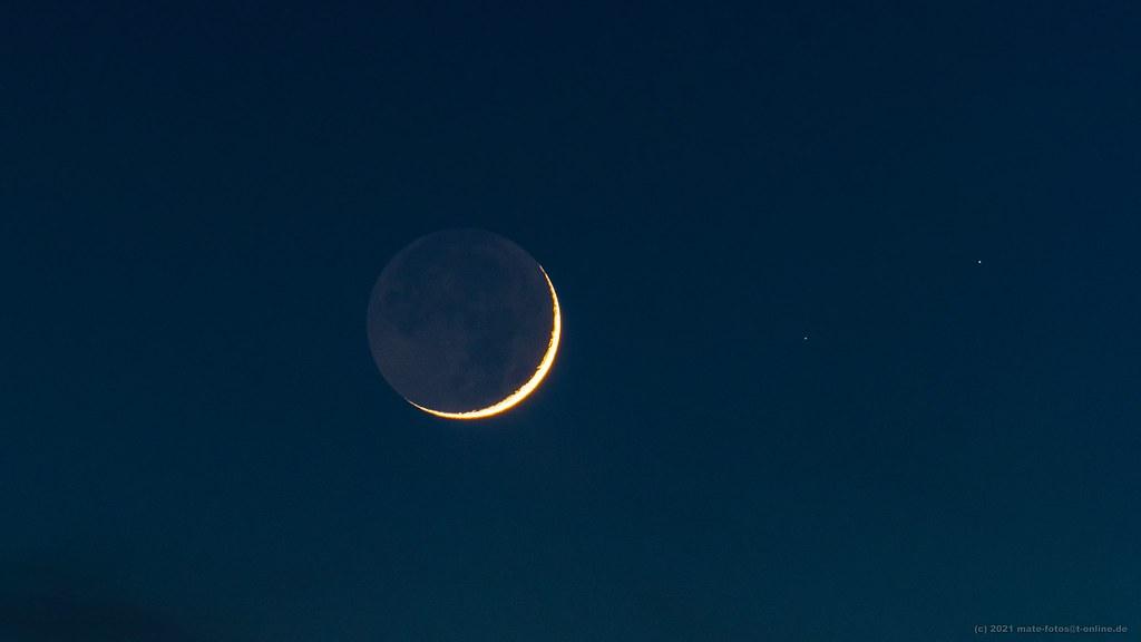 Mond vom / Moon from 13.02.2021 - 4,28%