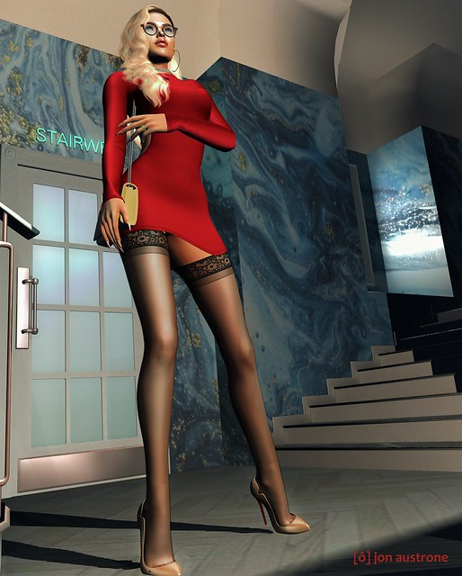 Catherine in Red