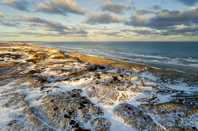 Balmedie Country Park from the air, Aberdeenshire