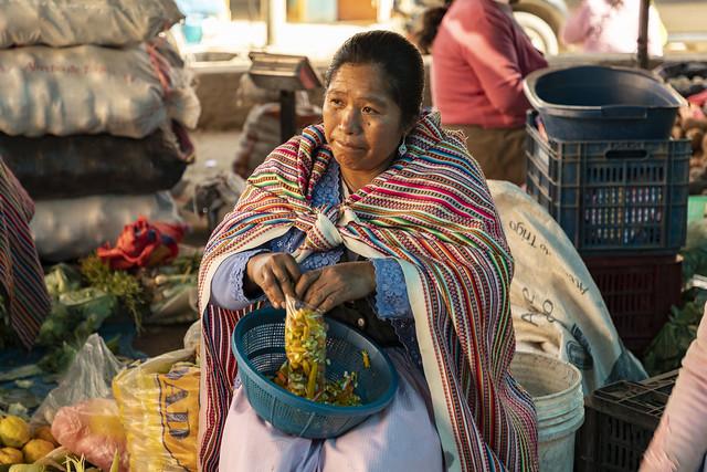 Mercado de Yungay. Perú.