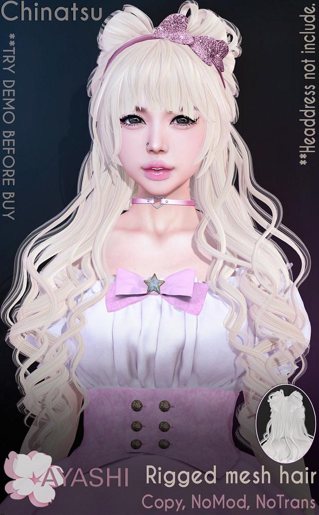 [^.^Ayashi^.^] Chinatsu hair & headdress special for Cupid Inc.