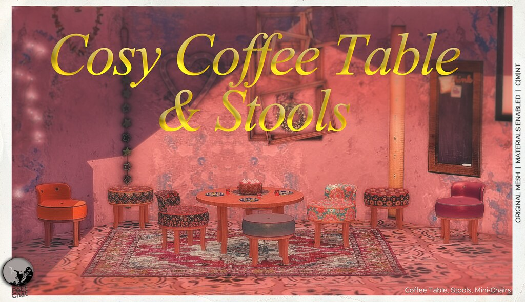 New release : Cosy Coffee Table & Stools @ Secret Sale Sundays Feb 14th