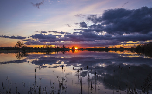 canon6d sunset colour clouds sky lake hinchingbrooke park landscape nature outside outdoors reflection cambridgeshire uk