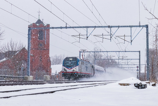 Amtrak 173 at Attleboro