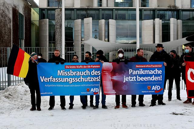 13. Februar 2021 - Demonstration von AfD-Mitgliedern