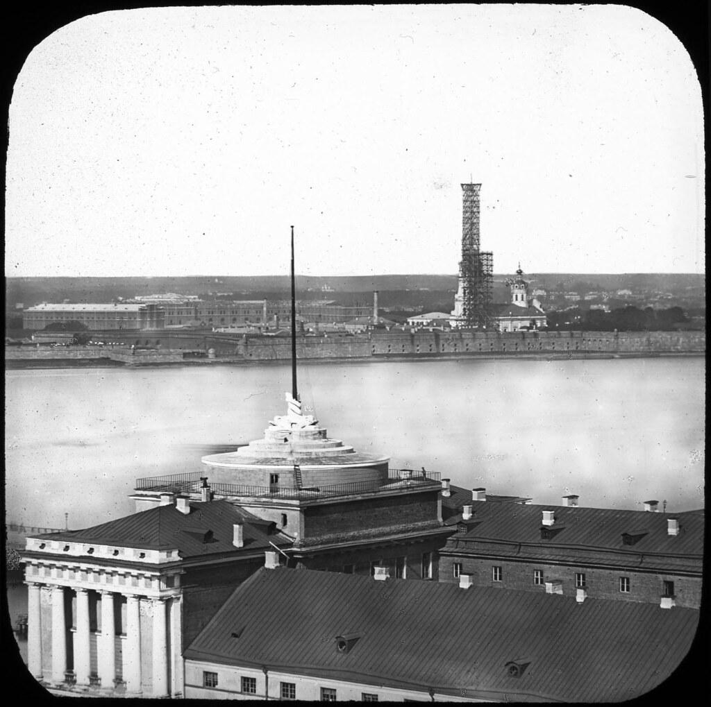 Реконструкция шпиля Петропавловского собора.1857