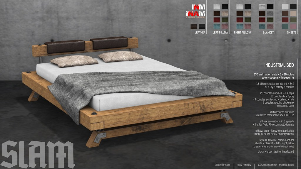 SLAM // industrial bed @ MAN CAVE Event