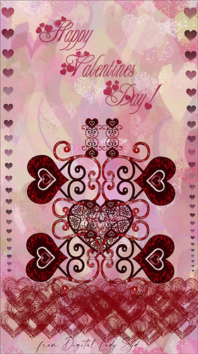 Image of a Valentines Day card effect