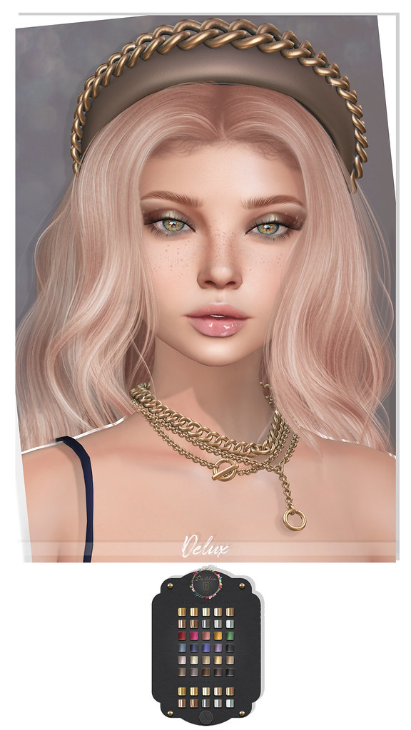 Lelutka – Head lily Skin & Freckles – Glam Affair – Sky Hair – Doux – Rain Eyeshadow – Jackspoon – Nikki