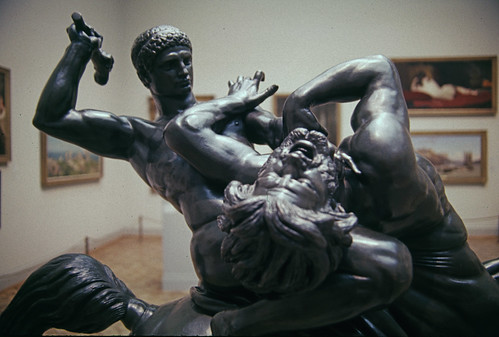 Theseus Fighting the Centaur Bianor
