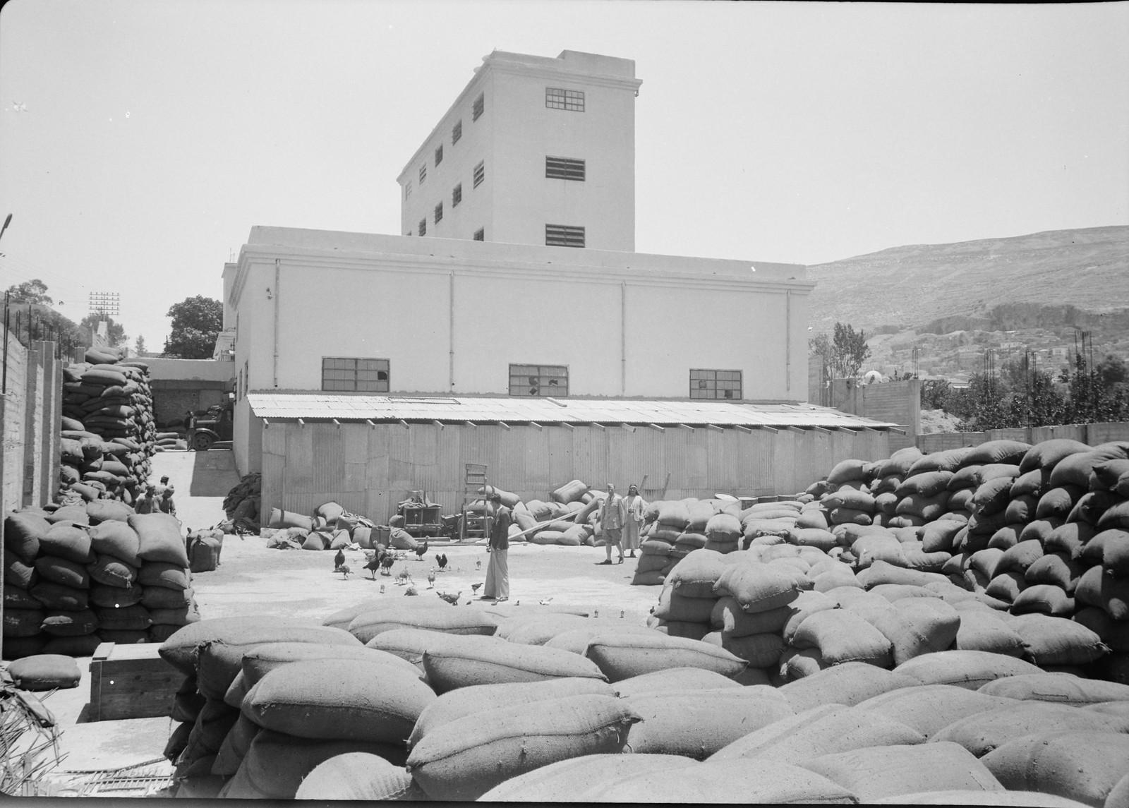 08. 1940. Шхем. The Naameh Flour Mills Ltd. Общий вид с запада
