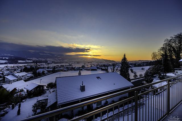 Winter evening in Kaltbrunn - Switzerland