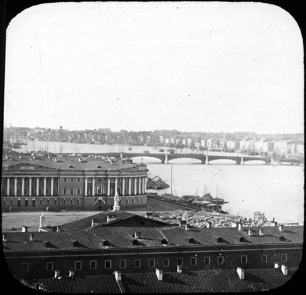 Вид на Сенатскую площадь. 1850-е