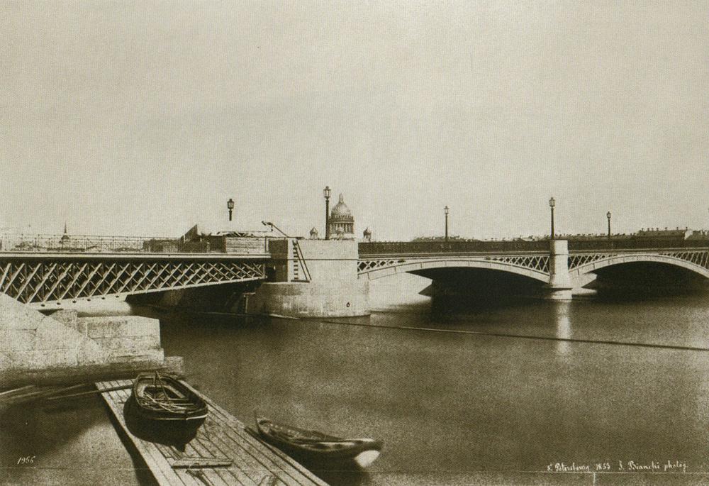 Благовещенский мост. 1853