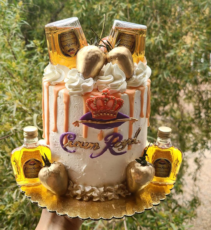 Crown Royal Cake by Christy's Cakes