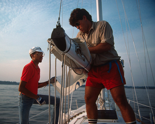 Geoff & Friend Sailing