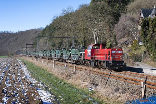6518 db cargo belgium z41581 ligne 43 hamoir 13 fevrier 2021 laurent joseph www wallorail be