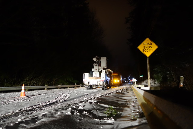 Snow storm in Snoqualmie