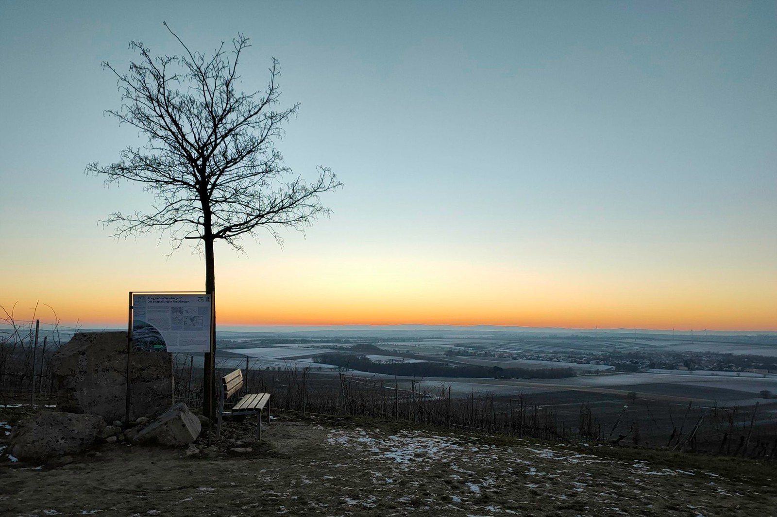 Selzstellung an der Hiwweltour Zornheimer Berg