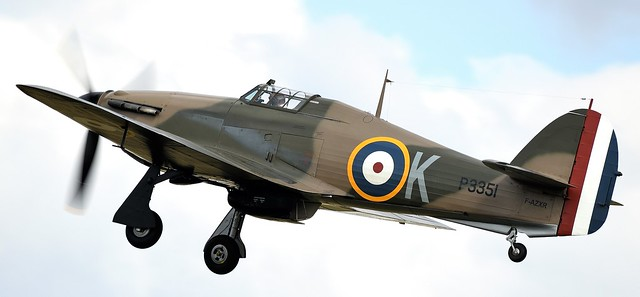 RAF Hawker Hurricane MK1 F-AZXR P3351 Powered by: RR Merlin Mk35