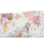 Kinunomichi (2021)  oil on canvas, ink, charcoal, pigment, pastel, coloured pencil 1100x360x45mm
