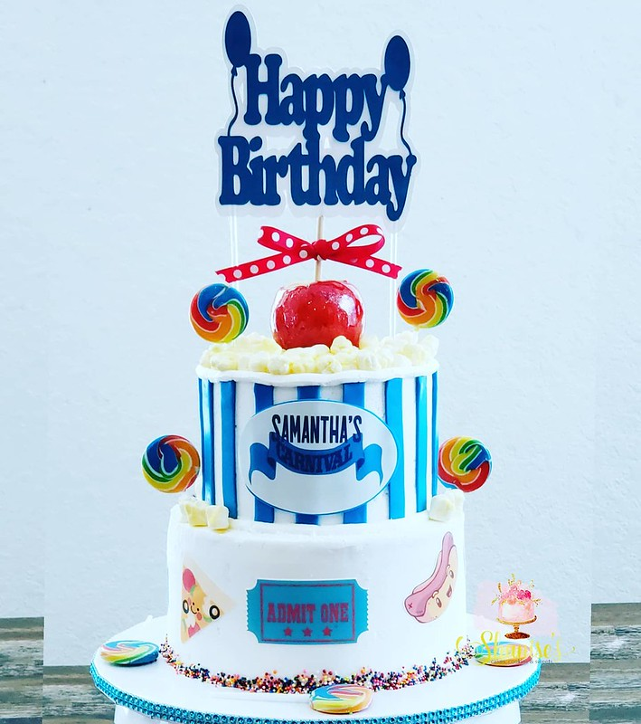 Carnival Theme Cake by Shanise's Cakes,Cookies & Sweets/ Cottage Bakery Studio