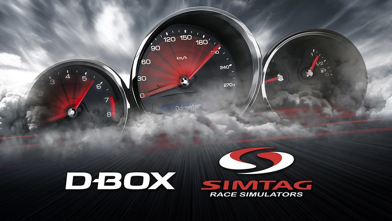 D-BOX Technologies and SIMTAG haptic pedal announcement.