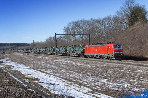 193 329 db cargo belgium e41581 ligne 24 montzen 13 fevrier 2021 laurent joseph www wallorail be