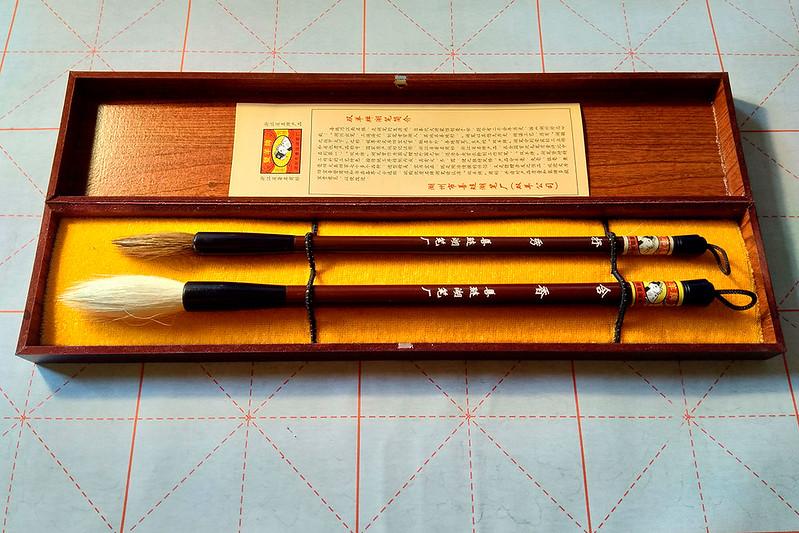 """Мои кисти для каллиграфии марки """"Шуанъян"""" 双羊牌"""