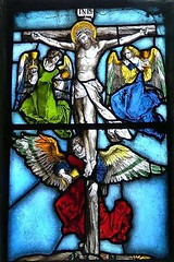 Angels collect the Precious Blood at the Crucifixion (German, early 16th Century)