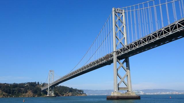 Under the Bay Bridge NHP at Bridge 2 Bridge Cruise with Red & White Fleet in San Francisco, CA