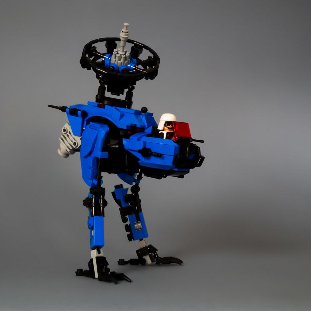Avian style space police walker
