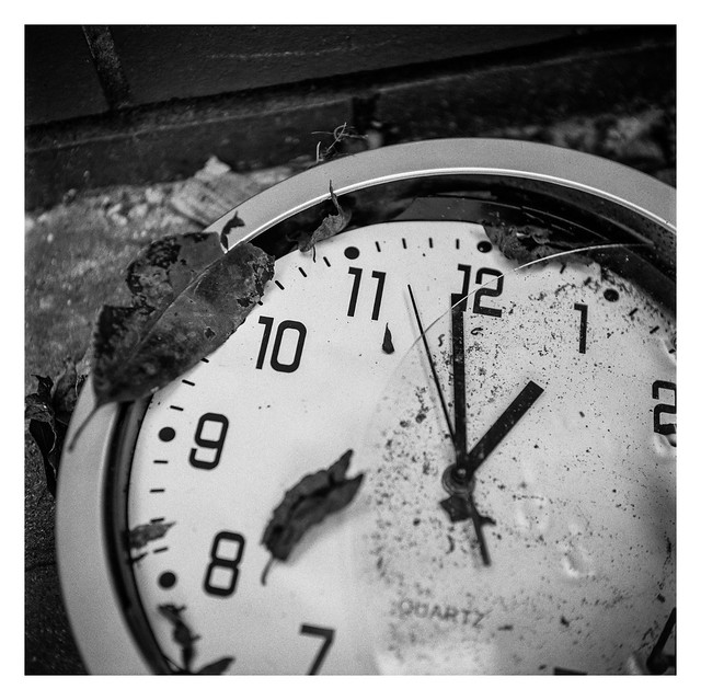 Just before one, time stopped