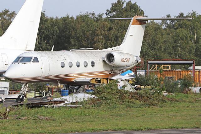 N623NP  -  Grumman Gulfstream 3 c/n 357  -  BOH/EGNH 15/9/20