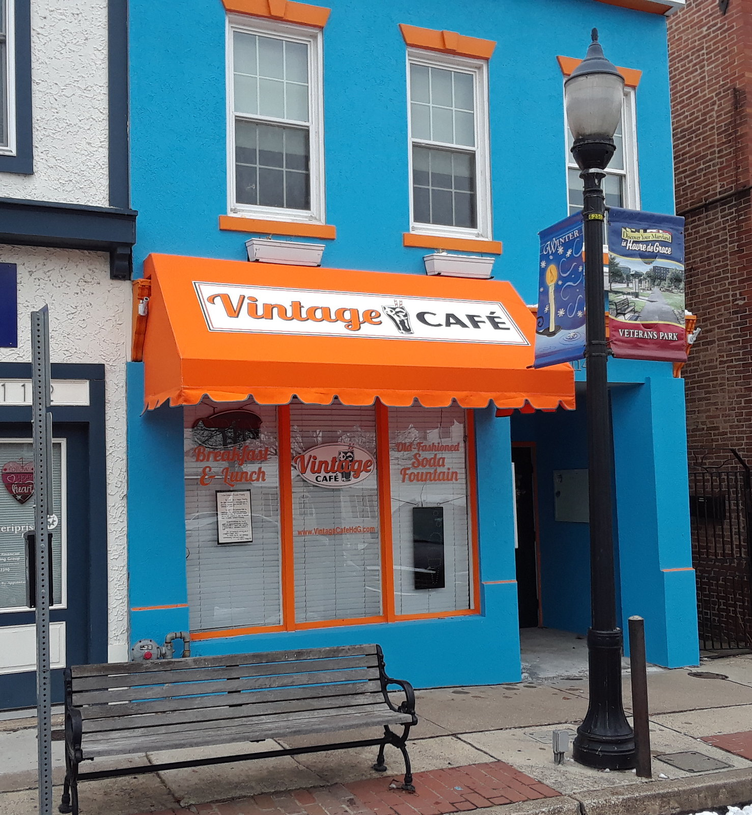 Colorful Storefront Awning -Building-Hoffman
