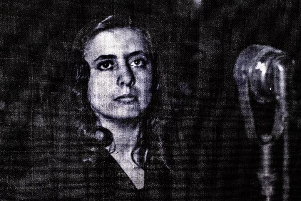 Musine Kokalari on trial, as shown at House of Leaves--Tirana