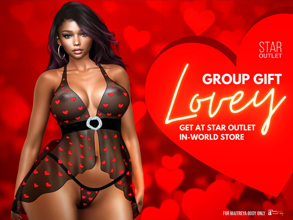 Get Sheer Babydoll 'Lovey' as STAR OUTLET Group Gift on Lover's Day!