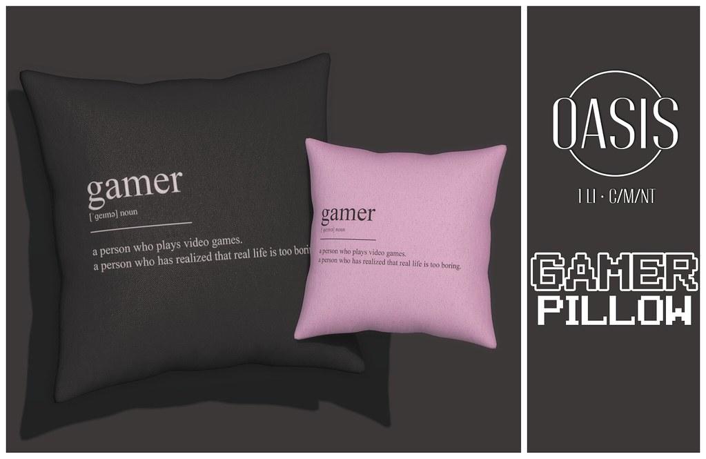 Oasis: Gamer Pillow