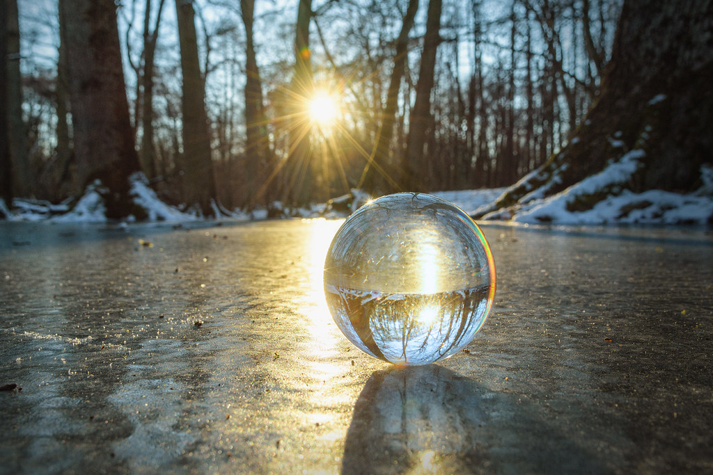 Taken the plunge on ice with the glass ball