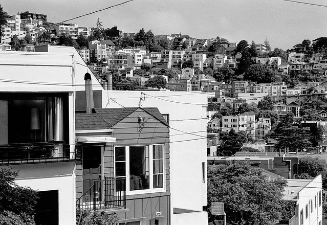 View from Yukon Street, Eureka Valley, San Francisco CA