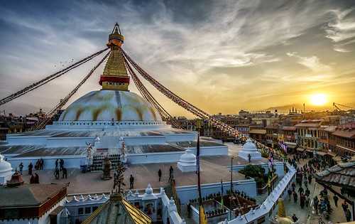 boudha boudhanath nepal kathmandu buddhist buddhism stupa sunset sun beautiful temple monument world heritage site sony a6000 alpha 6000 samyang 12 mm f2 wide angle ilce6000 ilcenex mirrorless