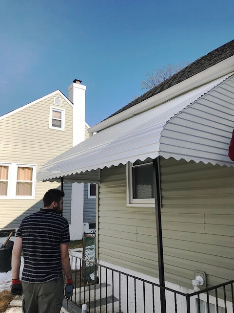 Stairwell Aluminum Awnings Baltimore-Hoffman Awning
