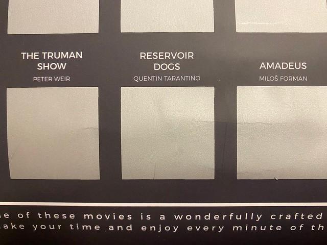 reservoir dogs. 100 movie scratch off bucketlist