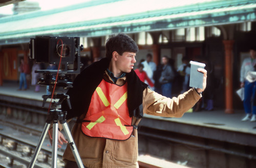 Large Format Camera on the Orange Line