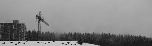 Wesbrook Village under snow