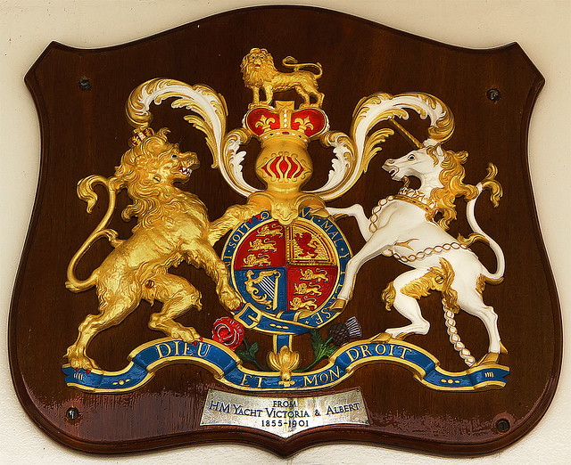 Coat of Arms from Royal Yacht Britannia - Queen Victorias yacht