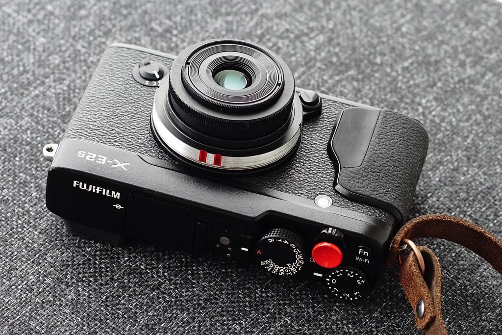 Custom lens - Fujinon 27mm F2.8 optics and Industar 50mm F3.5 frame