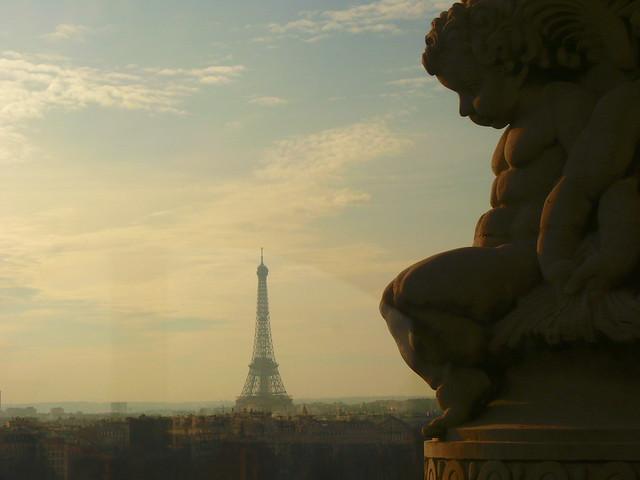Paris in the winter sun