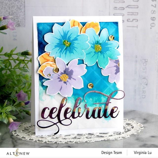 Altenew-Flower Bunch Simple Layering Stencil-Mod Square 3D Embossing Folder-Fancy Celebrate Die-Artist Marker Refill