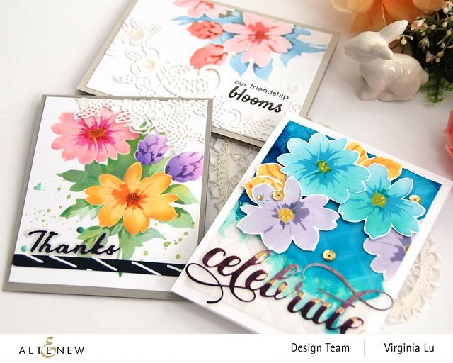Altenew-Flower Bunch Simple Layering Stencil-Fancy Floral Lace Die-001 (2)